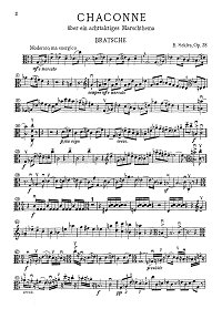 Sekles - Chaconne for viola and piano op.38 - Instrument part - first page