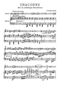 Sekles - Chaconne for viola and piano op.38 - Piano part - first page