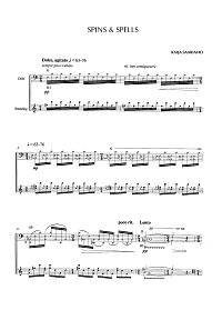 Saariaho - Spins and spells for cello - Cello part - first page