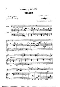 Sarasate - Romance and Gavotte for violin Op.16 - Piano part - First page