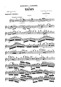 Sarasate - Romance and Gavotte for violin Op.16 - Instrument part - First page