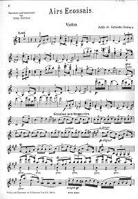 Sarasate - Ecossaise for violin - Instrument part - First page