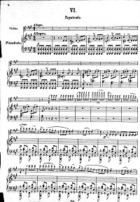 Sarasate - Zapateado Spanish dance - for violin and piano - Piano part - First page