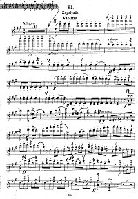 Sarasate - Zapateado Spanish dance - for violin and piano - Instrument part - First page
