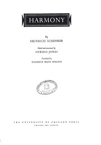 Schenker Heinrich - Harmony - Instrument part - first page