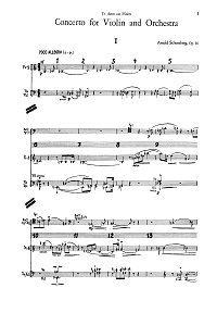Schoenberg - Violin Concerto op.36 - Piano part - first page