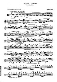 Schubert - The bee for viola and piano - Viola part - first page