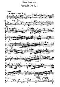 Schumann - Fantasy for violin op.131 - Instrument part - First page