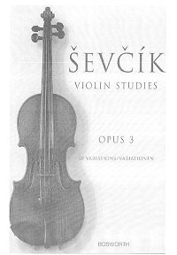 Sevcik - 40 variations for violin op.3 - Instrument part - First page