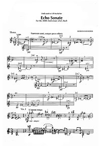 Shchedrin - Echo sonata for violin solo - Instrument part - first page