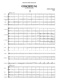 Schnittke - Cello Concerto N2 (1990) - Piano part - first page