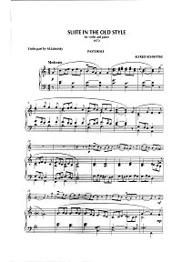 Schnittke - Suite in the old style for violin and piano (1972) - Piano part - first page