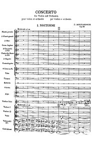 Shostakovich - Violin concerto N1 op.77 - Instrument part - first page