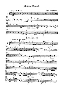 Shostakovich - Album leaves for violin - Instrument part - First page
