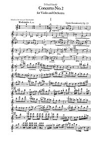 Shostakovich - Violin concerto N2 - Instrument part - First page
