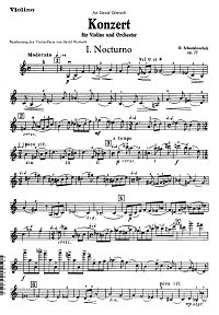 Shostakovich - Violin concerto N1 - Instrument part - First page