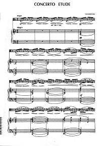 Shurovsky - Concerto etude for viola and piano - Piano part - first page