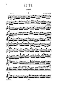 Sinding - Suite in the old style Op.10 for violin - Instrument part - first page