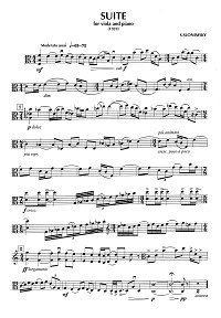 Slonimsky - Suite for viola and piano (1959) - Instrument part - first page