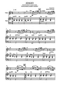 Song From A Secret Garden - Adagio for violin and piano - Piano part - First page