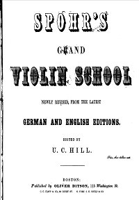 Spohr - Big school of violin play - Instrument part - First page