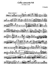 Stamitz - Cello concerto C major N4 - Instrument part - first page