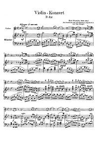 Stamitz - Violin concerto in B - flat - Piano part - first page
