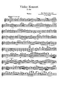 Stamitz - Violin concerto in B - flat - Instrument part - first page