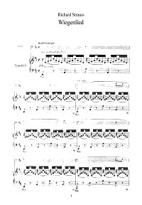 Strauss - Lullaby for violin - Piano part - First page