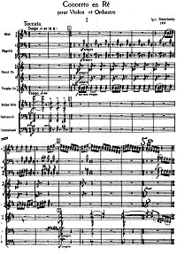 Stravinsky - Violin concerto D-dur - Piano part - first page