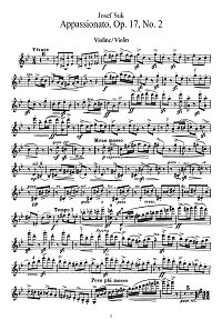 Szuk - Apassionato for violin - Instrument part - First page