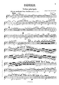 Svendsen - Violin concerto op.6 - Violin part - first page