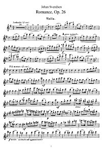 Svendsen - Romance for violin op.26 - Instrument part - First page