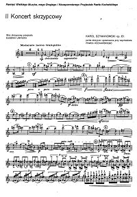 Sczymanowski - Violin concerto N2 op.61 - Instrument part - First page