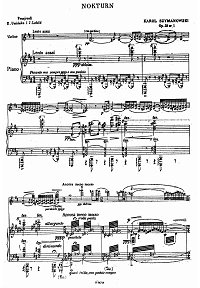 Sczymanowski - Nocturne and tarantella for violin Op.28 - Piano part - First page