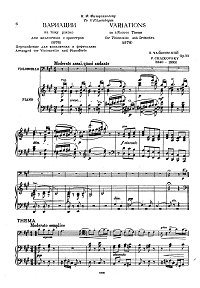 Tchaikovsky - Variations on a Rococo theme for Cello op.33 - Piano part - first page