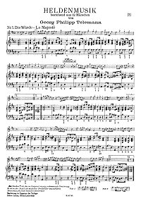 Telemann - Heldenmusik for viola and piano - Piano part - first page