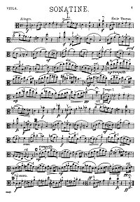Thomas - Sonatina for viola - Instrument part - first page