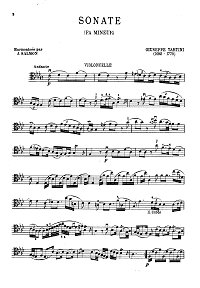 Tartini - Cello sonata - Instrument part - first page