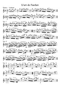 Tartini - 50 variations for violin solo on Corelli theme - Instrument part - First page