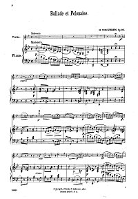 Vieuxtemps - Ballade and polonaise for violin op.38 - Piano part - First page