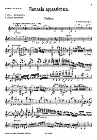 Vieuxtemps - Fantasy Apassionata for violin op.35 - Instrument part - first page