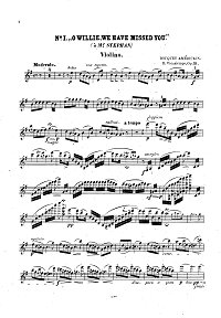 Vieuxtemps - American bouquet for violin op.33 - Instrument part - First page