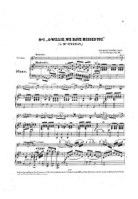 Vieuxtemps - American bouquet for violin op.33 - Piano part - First page