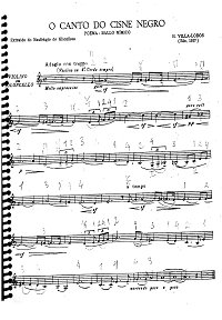 Villa Lobos - O Canto do cisne negro Poema for cello and piano - Instrument part - first page