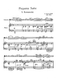 Villa Lobos - Pequena Suite for cello (1913) - Piano part - first page