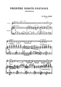 Villa-Lobos - Sonata Fantasie N1 Desesperance for violin op.35 - Piano part - first page