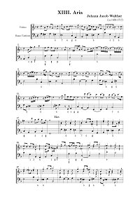 Walter - Aria for violin - Instrument part - First page