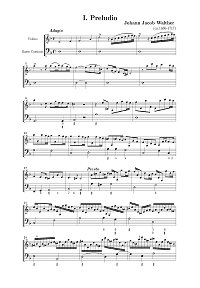 Walter - Prelude for violin - Instrument part - First page