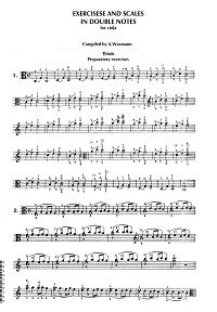Waxmann - Exercises and scales for viola in double notes - Viola part - first page